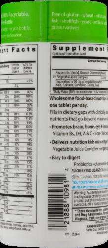 Rainbow Light Kids' One Multivitamin Gluten Free Tablets Perspective: left