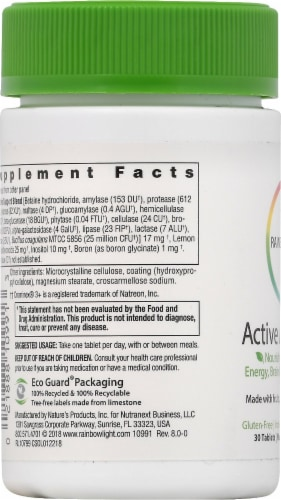 Rainbow Light Active Adult 50+ Multivitamin Tablets 30 Count Perspective: left