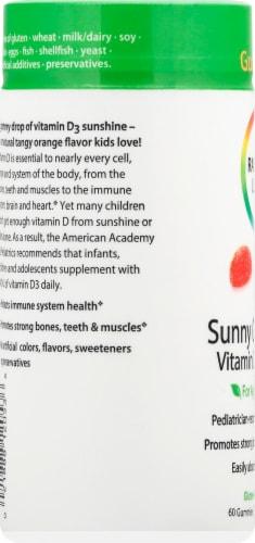 Rainbow Light Vitamin D3 Tangy Orange Flavor Gummies 400IU Perspective: left