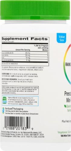 Rainbow Light Prenatal Petite Multivitamin Mini Tablets Perspective: left