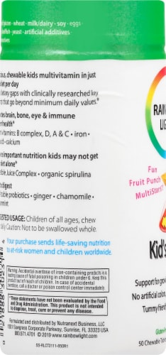 Rainbow Light Kid's One Multivitamin Chewable Tablets Perspective: left