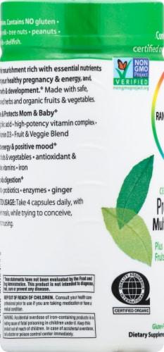 Rainbow Light Organic Prenatal Multivitamin Vegetarian Capsules Perspective: left