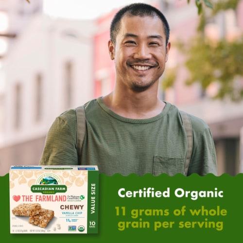 Cascadian Farm Organic Vanilla Chip Chewy Granola Bars Perspective: left