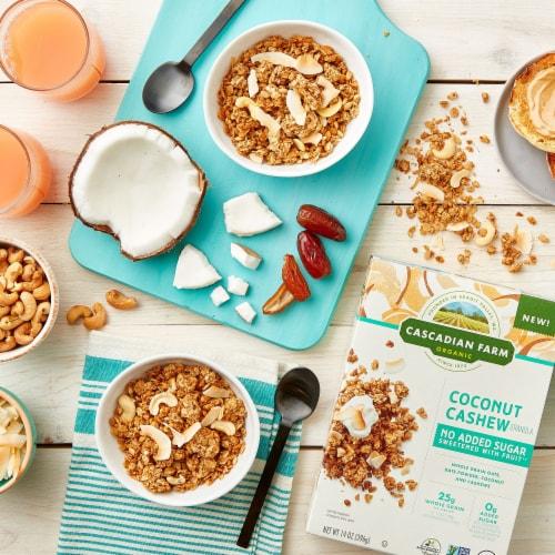 Cascadian Farm Organic No Added Sugar Coconut Cashew Granola Perspective: left