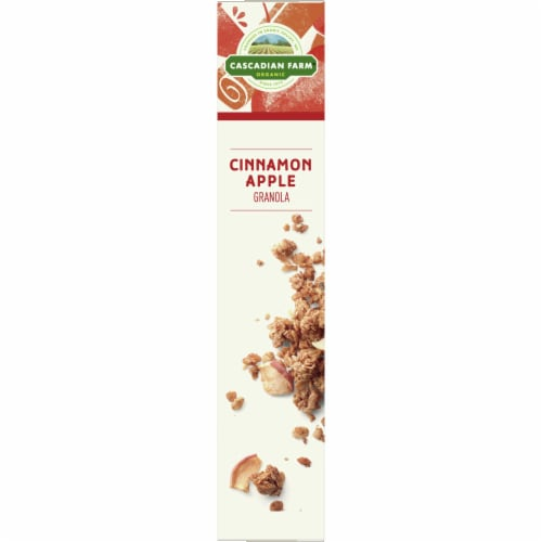 Cascadian Farm Organic No Added Sugar Cinnamon Apple Granola Perspective: left
