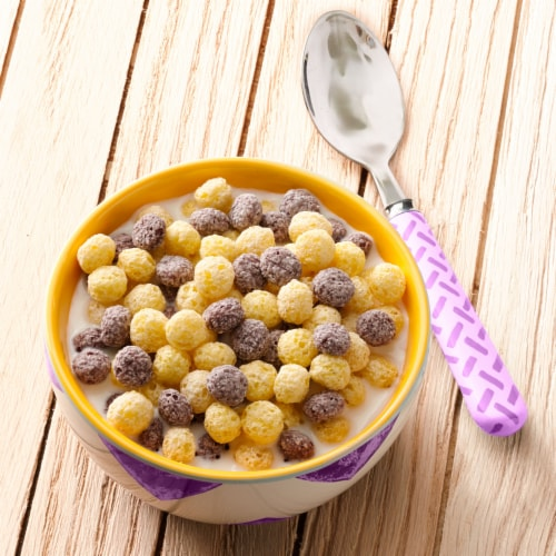 Cascadian Farm Organic Gluten Free Berry Vanilla Puffs Cereal Perspective: left