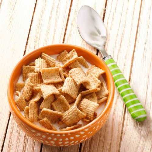 Cascadian Farm Organic Cinnamon Crunch Cereal Perspective: left