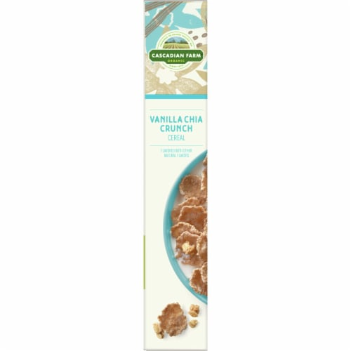 Cascadian Farm Organic Vanilla Chia Crunch Cereal Perspective: left