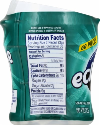 ECLIPSE Spearmint Sugar Free Chewing Gum 60 Count Perspective: left