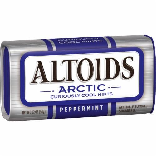Altoids Arctic Peppermint Sugarfree Mints Perspective: left