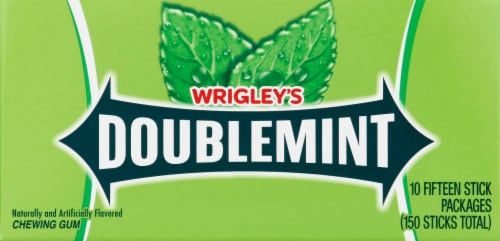 Wrigley's Doublemint Gum (10 Pack) Perspective: left