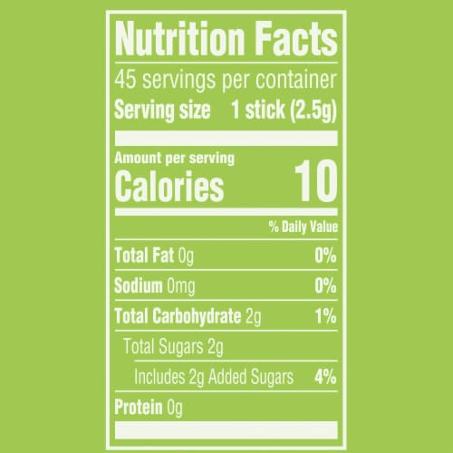 Wrigley's Doublemint Chewing Gum Perspective: left