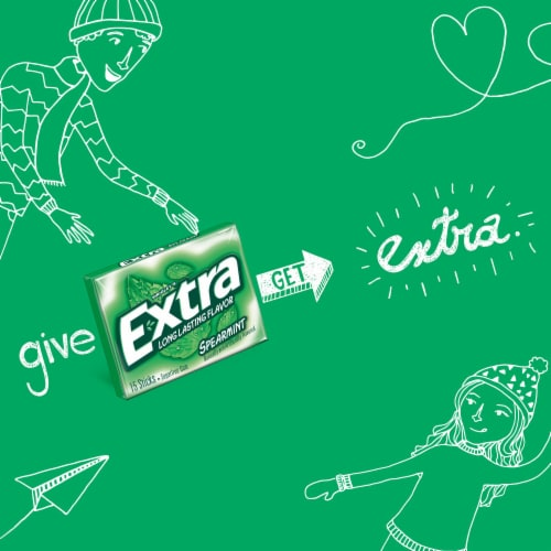 EXTRA Spearmint Sugar Free Chewing Gum Perspective: left