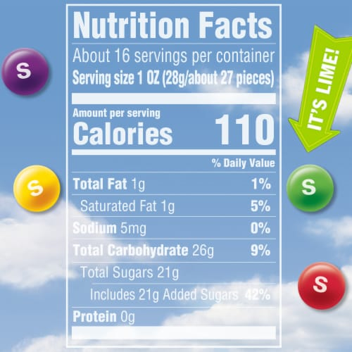 Skittles Original Chewy Candy Sharing Size Perspective: left