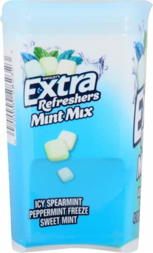 Extra Refreshers Mint Mix Sugarfree Gum Perspective: left