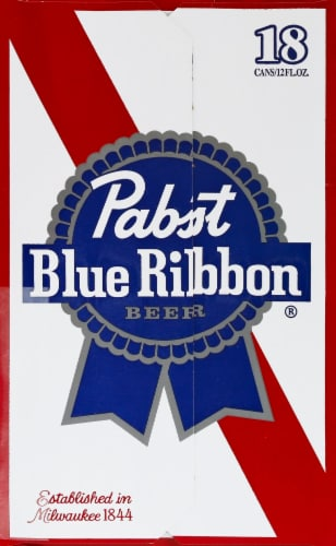 Pabst Blue Ribbon Beer Perspective: left