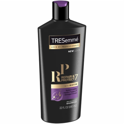 TRESemme Repair & Protect 7 with Biotin Shampoo Perspective: left