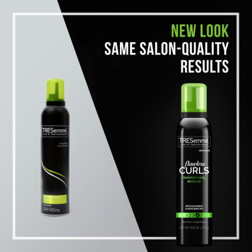TRESemmé® Flawless Curls Extra Hold Moisturizing & Styling Mousse Perspective: left