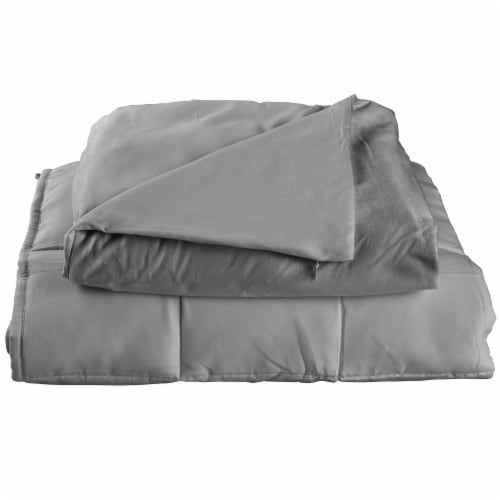 Tranquility Adult Weighted Blanket - Gray Perspective: left