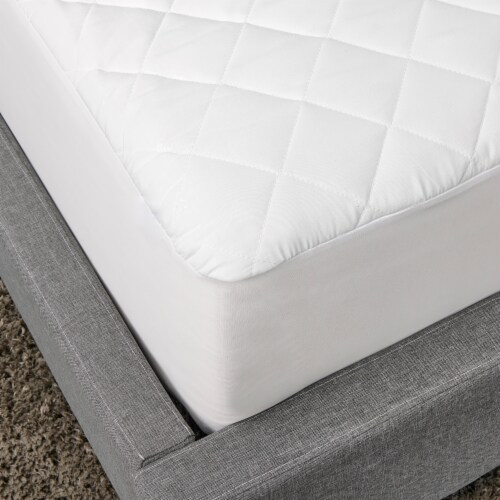 Sealy 300 Thread Count White Mattress Pad Perspective: left
