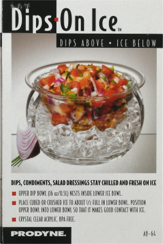 Prodyne Ice Acrylic Dip Bowl - Clear Perspective: left