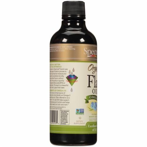 Spectrum Essentials Organic Omega 3 Flax Oil Perspective: left