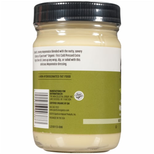 Spectrum Organic Mayonnaise with Extra Virgin Olive Oil Perspective: left