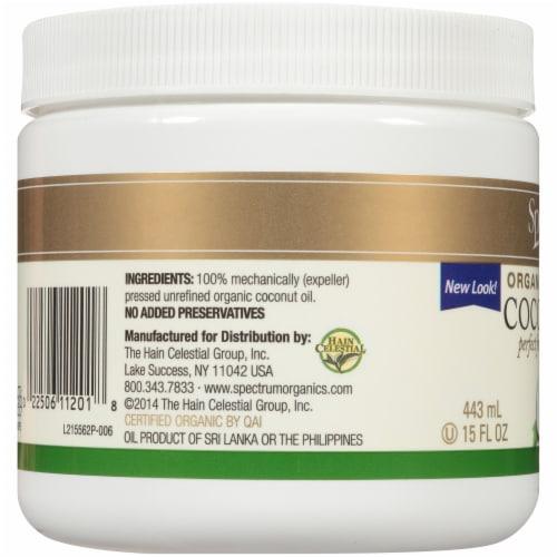 Spectrum Essentials Organic Unrefined Coconut Oil Perspective: left