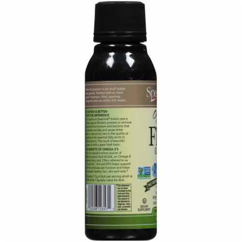 Spectrum Essentials Organic Flax Oil Perspective: left