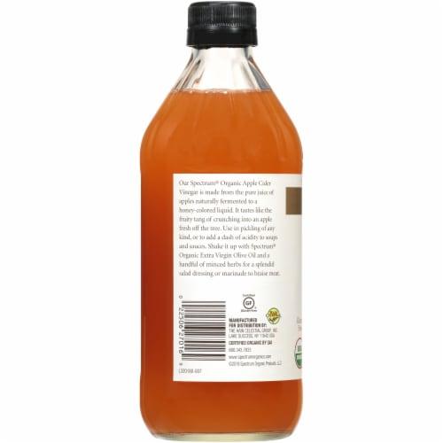 Spectrum Organic Unfiltered Apple Cider Vinegar Perspective: left
