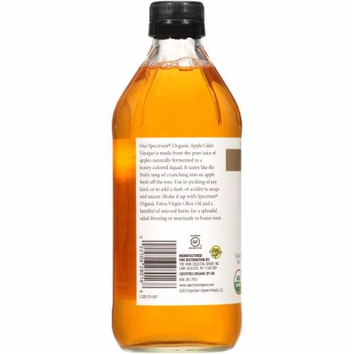 Spectrum Organic Raw Apple Cider Vinegar Perspective: left
