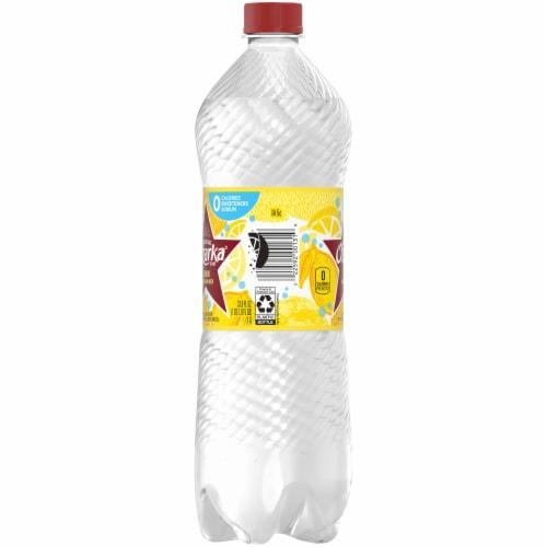 Ozarka Lemon Natural Sparkling Water Perspective: left