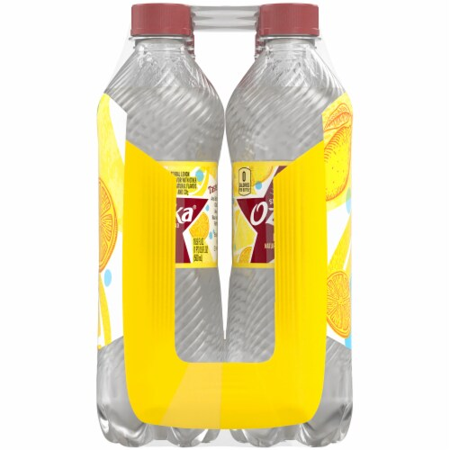 Ozarka Lively Lemon Sparkling Spring Water 8 Bottles Perspective: left