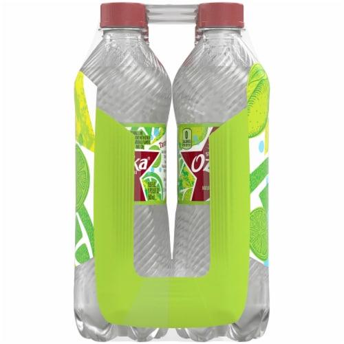 Ozarka Zesty Lime Sparkling Spring Water 8 Bottles Perspective: left