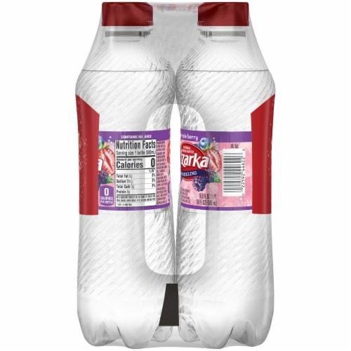 Ozarka Triple Berry Sparkling Spring Water 8 Bottles Perspective: left