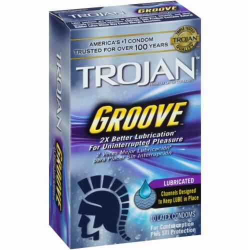 Trojan Groove Lubricated Condoms Perspective: left