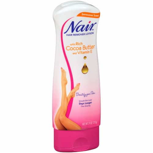 Nair Sensuous Scent Hair Remover Lotion with Cocoa Butter and Vitamin E Perspective: left