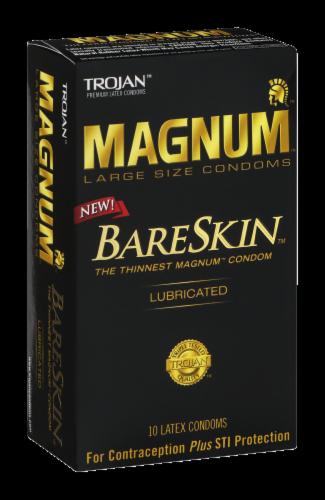 Trojan Magnum Bareskin Lubricated Large Size Condoms Perspective: left