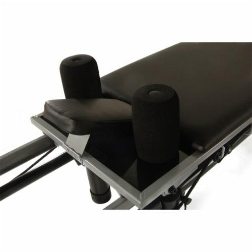 Stamina 55-4266 AeroPilates Reformer Whole Body Resistance Workout System, Black Perspective: left