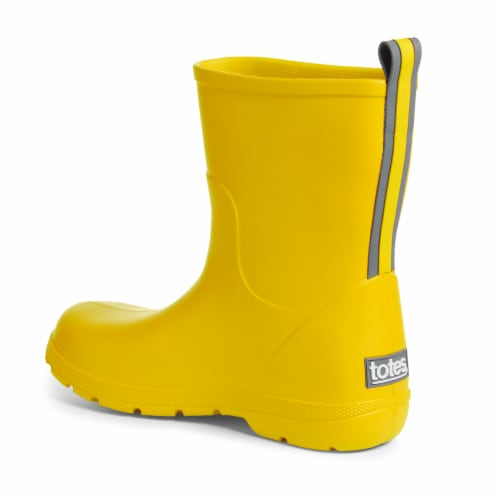 Totes® Toddler's Charley Tall Rain Boots - School Bus Perspective: left