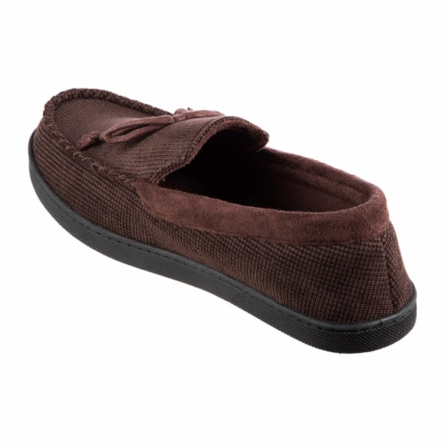 Isotoner® Mini Box Cord Luke Moccasin with Lacing - Brown Perspective: left