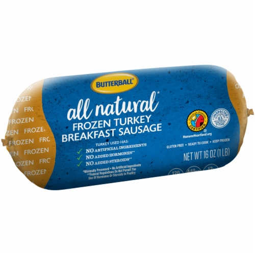 Butterball Turkey Breakfast Sausage Roll Perspective: left