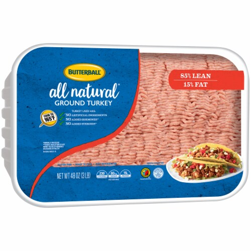 Butterball All Natural 85% Lean Ground Turkey Perspective: left
