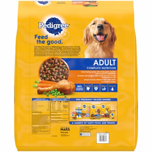 Pedigree Adult Complete Nutrition Roasted Chicken Rice & Vegetable Flavor Dry Dog Food Perspective: left