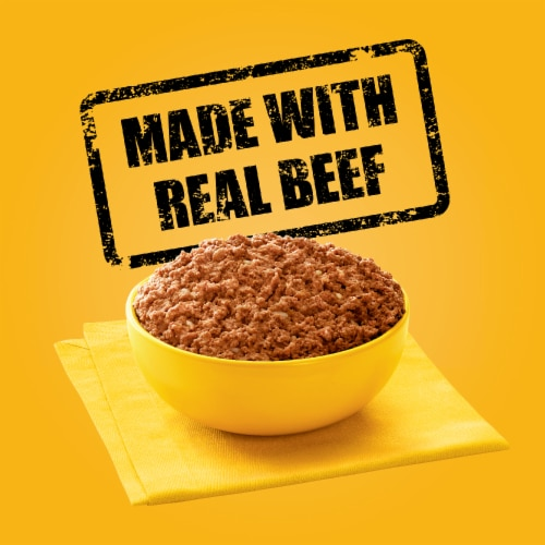 Pedigree® Chopped Ground Dinner with Beef Wet Dog Food Perspective: left
