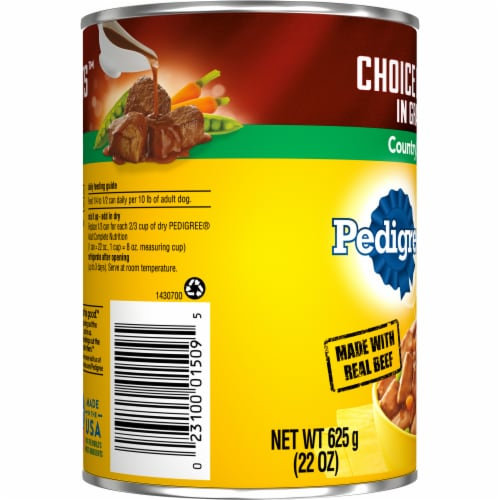 Pedigree Choice Cuts in Gravy Country Stew Wet Dog Food Perspective: left
