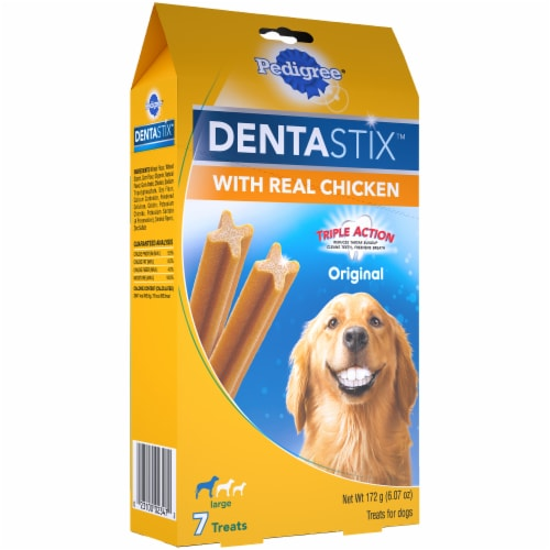 Pedigree® DentaStix™ Triple Action Original Chicken Large Breed Dog Treats Perspective: left