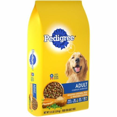 Pedigree Adult Complete Nutrition Roasted Chicken Rice & Vegetable Flavor Dry Dog Food Perspective: left