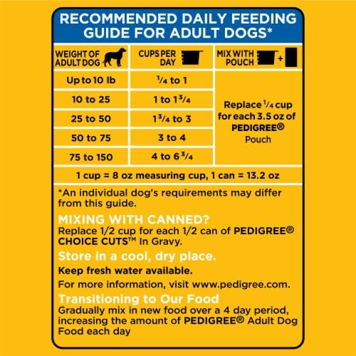 Pedigree® Adult Complete Nutrition Roasted Chicken Rice & Vegetable Flavor Dry Dog Food Perspective: left