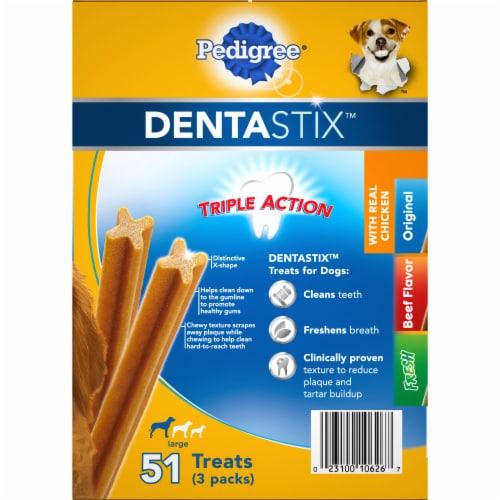 Pedigree Dentastix Large Dog Dental Treat Variety Pack Perspective: left
